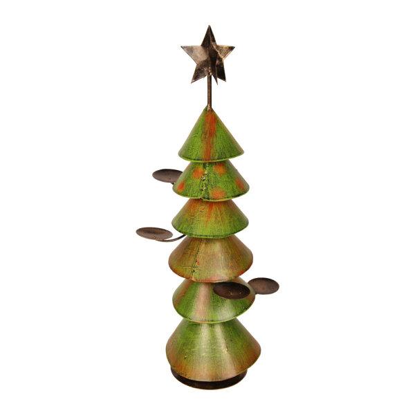 Weihnachtsbaum Metall.Weihnachtsbaum Metall Für 4 Kerzen 62 X 26 X 26 Cm